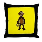 MONTGOMERY MONKEY Throw Pillow