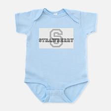 Strawberry (Big Letter) Infant Creeper