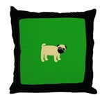 NORTON PUG Throw Pillow