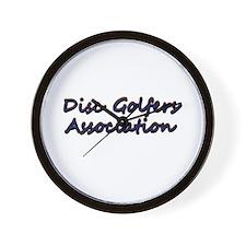 Disc Golfers Association Words Wall Clock