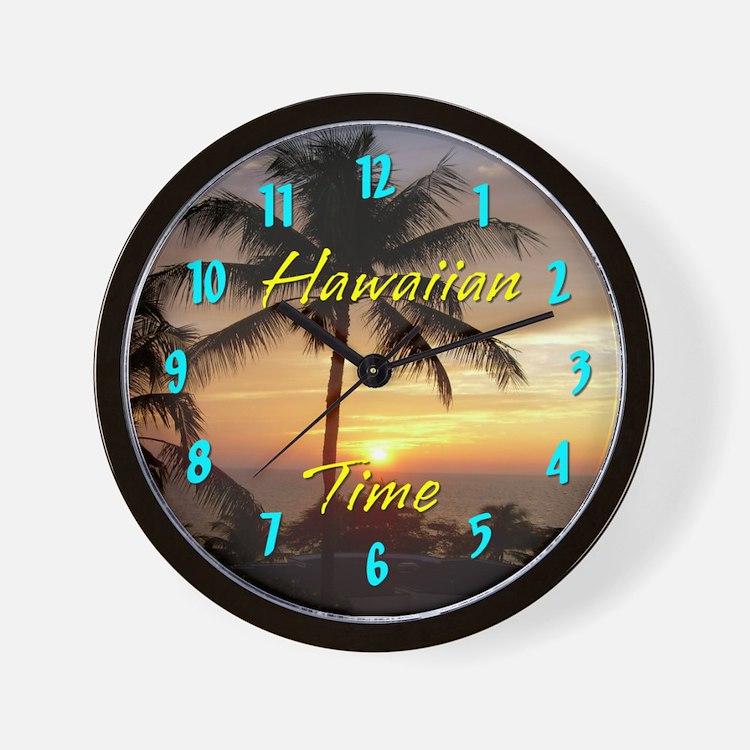 Hawaiian Time Wall Clock