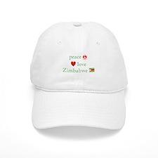 Peace Love and Zimbabwe Baseball Cap