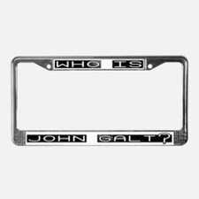 Funny Ayn rand License Plate Frame