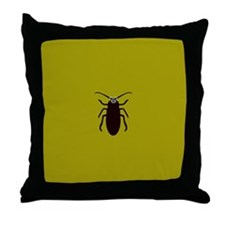 TED COCKROACH Throw Pillow
