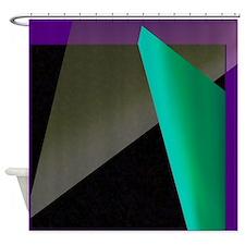 Geometric Spotlight Shower Curtain