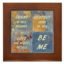Self--Be Me Framed Tile