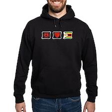 Peace Love and Zimbabwe Hoodie