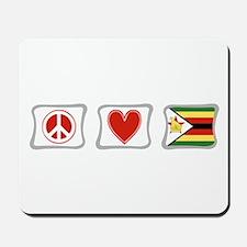 Peace Love and Zimbabwe Mousepad