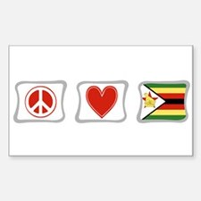 Peace Love and Zimbabwe Decal