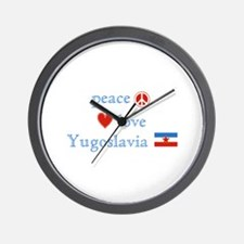Peace Love and Yugoslavia Wall Clock