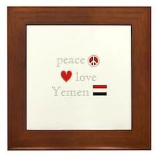 Peace Love and Yemen Framed Tile