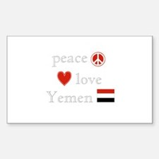 Peace Love and Yemen Decal
