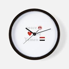 Peace Love and Yemen Wall Clock