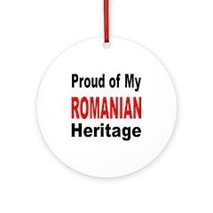 Proud Romanian Heritage Ornament (Round)