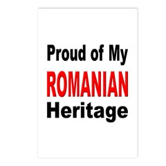 Proud Romanian Heritage Postcards (Package of 8)
