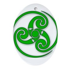 Celtic Spiral Ornament (Oval)