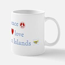 Peace Love &Virgin Islands Mug