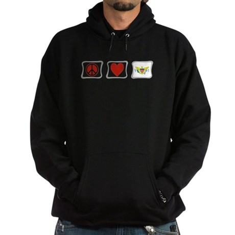 Peace Love & Virgin Islands Hoodie (dark)