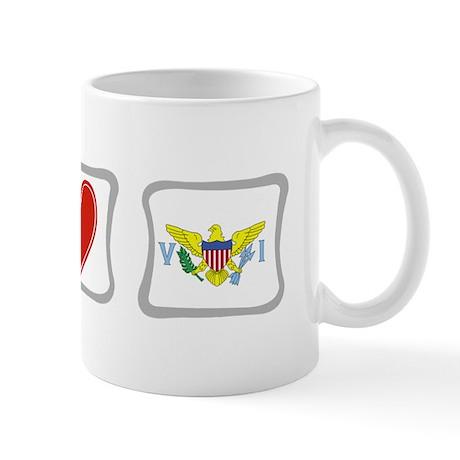 Peace Love & Virgin Islands Mug
