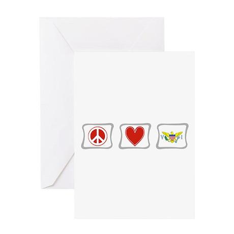 Peace Love & Virgin Islands Greeting Card