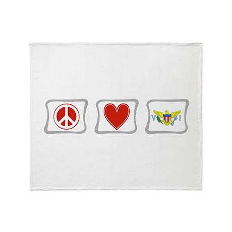 Peace Love & Virgin Islands Throw Blanket