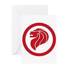 Singapore Lion Roundel Greeting Card