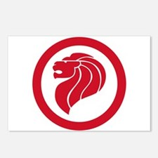 Singapore Lion Roundel Postcards (Package of 8)
