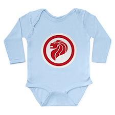 Singapore Lion Roundel Long Sleeve Infant Bodysuit