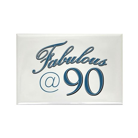 Fabulous at 90 Rectangle Magnet (10 pack)