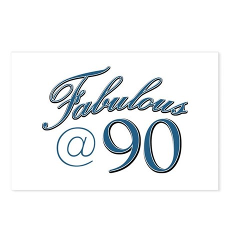 Fabulous at 90 Postcards (Package of 8)