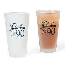 Fabulous at 90 Drinking Glass