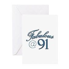 Fabulous at 91 Greeting Cards (Pk of 10)