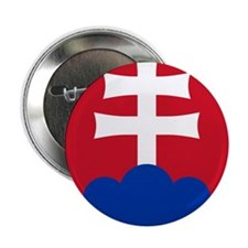 """Slovakia Roundel 2.25"""" Button (100 pack)"""