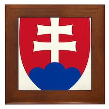 Slovakia Roundel Framed Tile