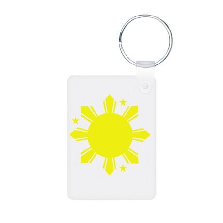 Sun and stars Aluminum Photo Keychain