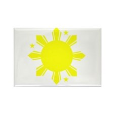 Sun and stars Rectangle Magnet