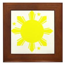 Sun and stars Framed Tile