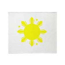 Sun and stars Throw Blanket