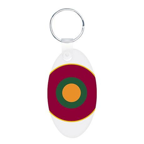 Sri Lanka Roundel Aluminum Oval Keychain