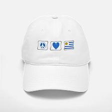 Peace Love and Uruguay Baseball Baseball Cap