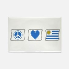 Peace Love and Uruguay Rectangle Magnet