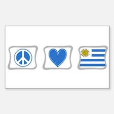 Peace Love and Uruguay Decal