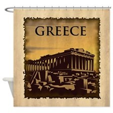 Vintage Greece Shower Curtain
