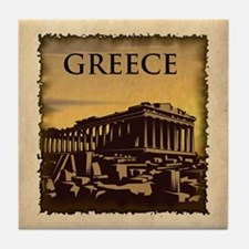 Vintage Greece Tile Coaster