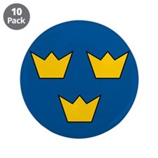 """Sweden Roundel 3.5"""" Button (10 pack)"""
