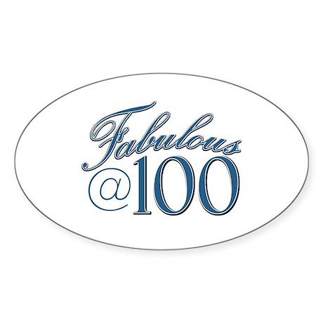 Fabulous at 100 Sticker (Oval 50 pk)