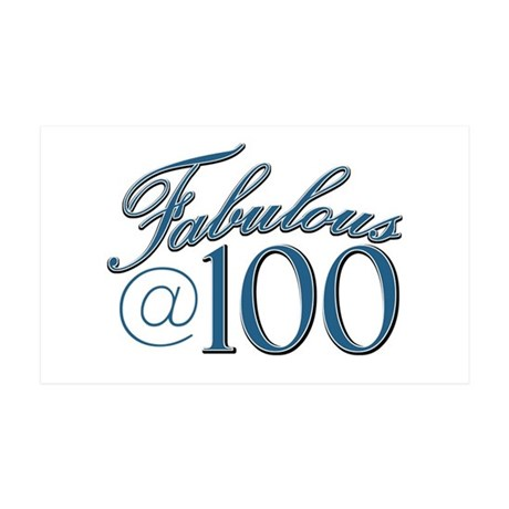 Fabulous at 100 35x21 Wall Decal