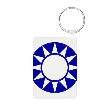Taiwan Roundel Aluminum Photo Keychain