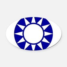 Taiwan Roundel Oval Car Magnet