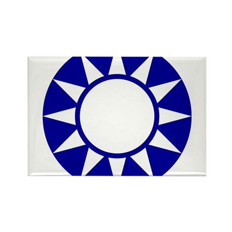 Taiwan Roundel Rectangle Magnet